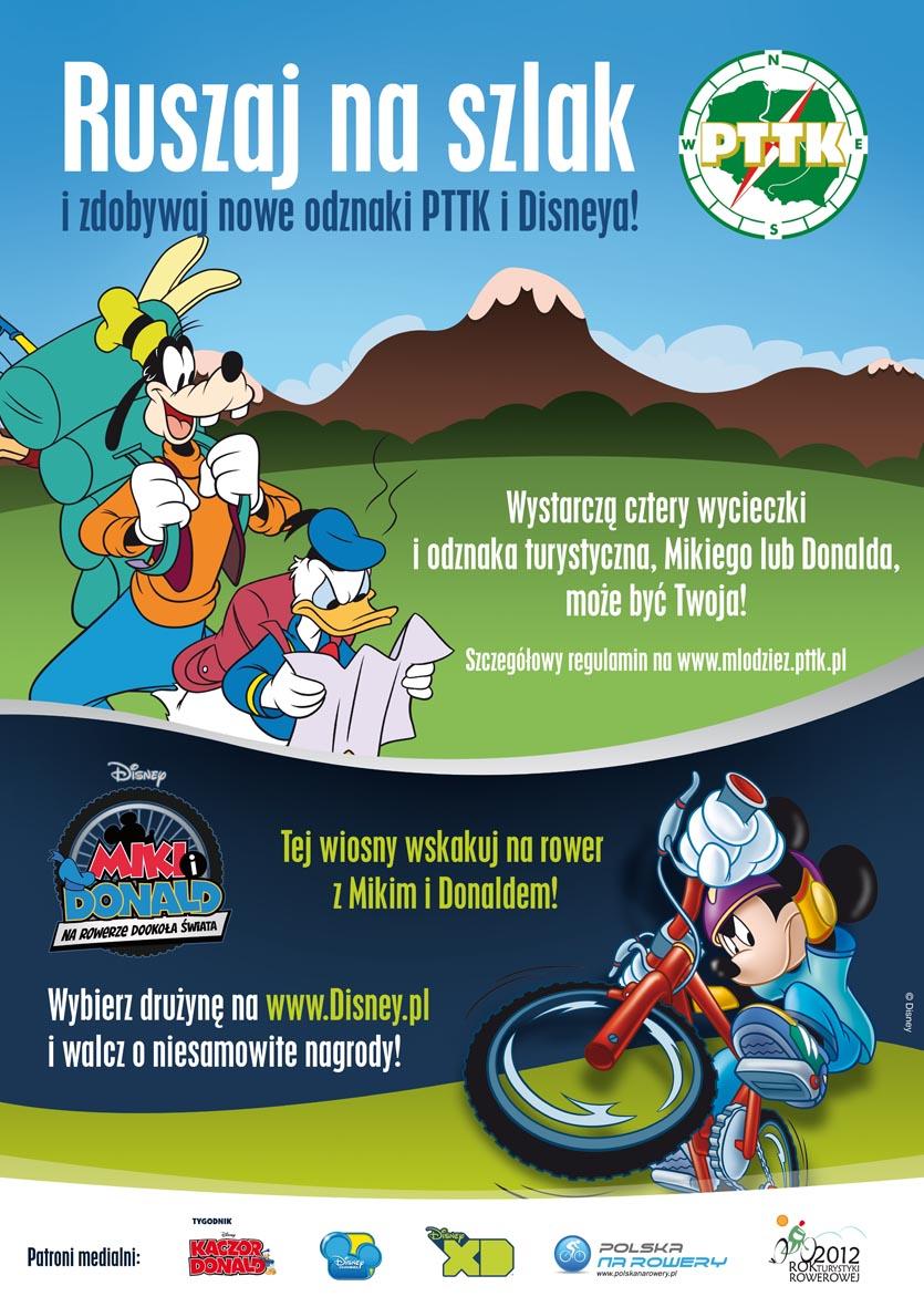 """Nowa odznaka:  """"Miki i Donald: Na rowerze dookoła świata"""""""